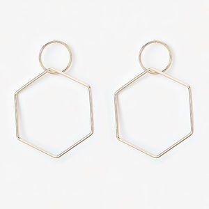 EXPRESS Hexagon Drop Earrings